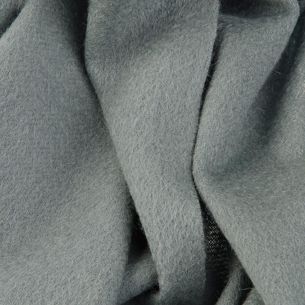 Теплый классический шерстяной палантин морская волна