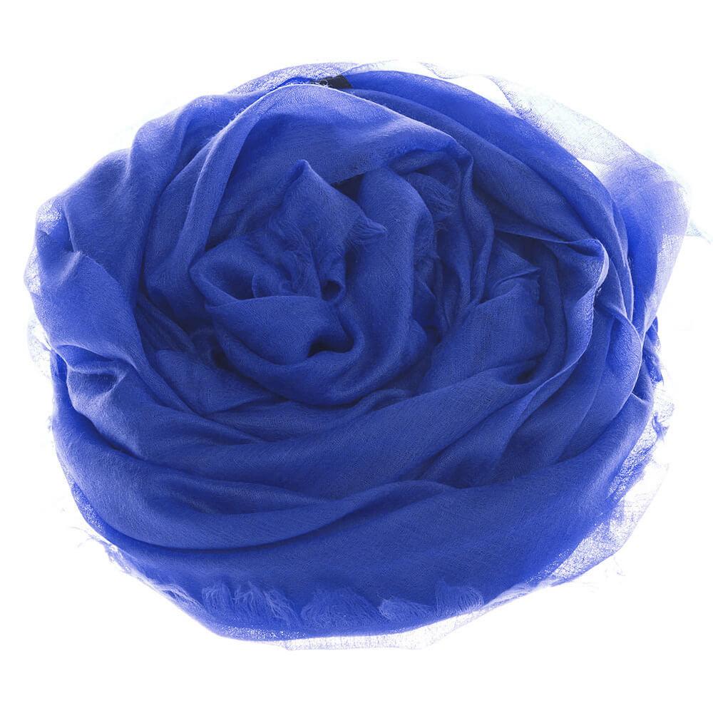 Шаль CASHMERE DIAMOND королевский синий