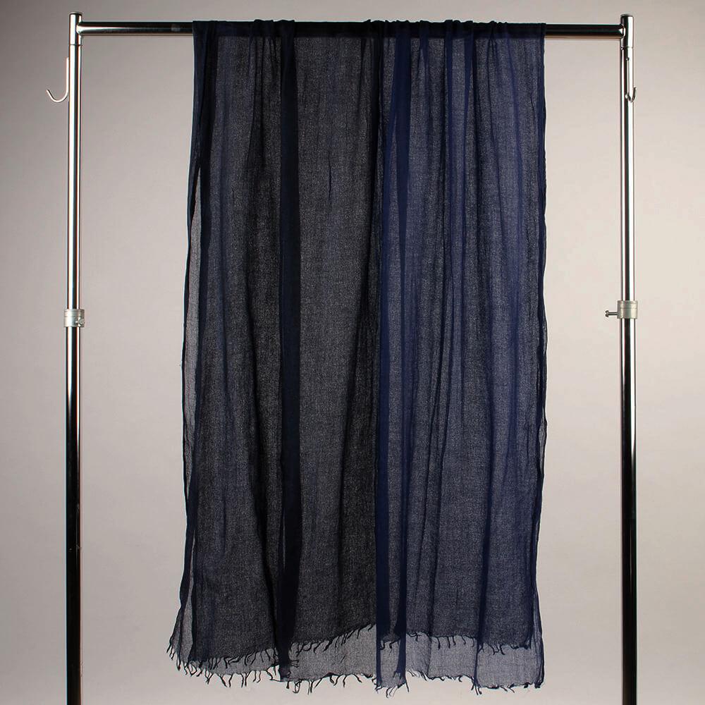 Итальянский кашемировый палантин черно-синий 937878