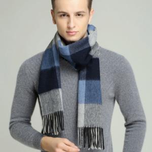 шерстяной шарф подарок мужчине