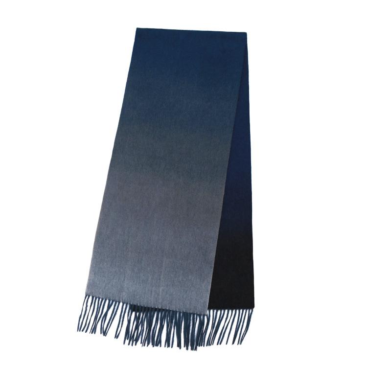 Шарф CASHMERE GRAND GRADIENT темно-синий/черный/графит