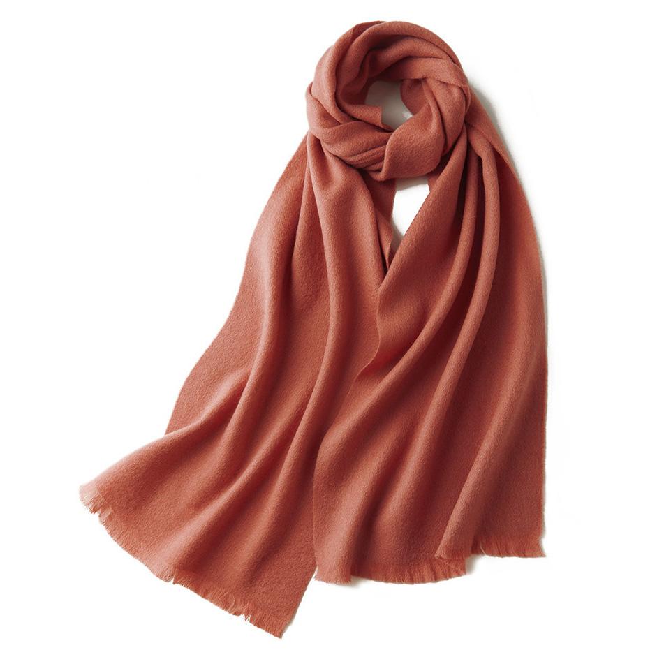 Шерстяной шарф COMFORT коралловый