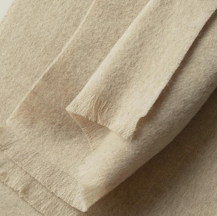 Шерстяной шарф COMFORT натуральный