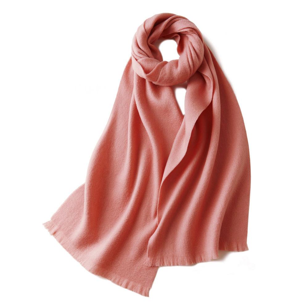 Шерстяной шарф COMFORT нежно-розовый