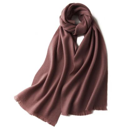 Шерстяной шарф COMFORT пыльная роза
