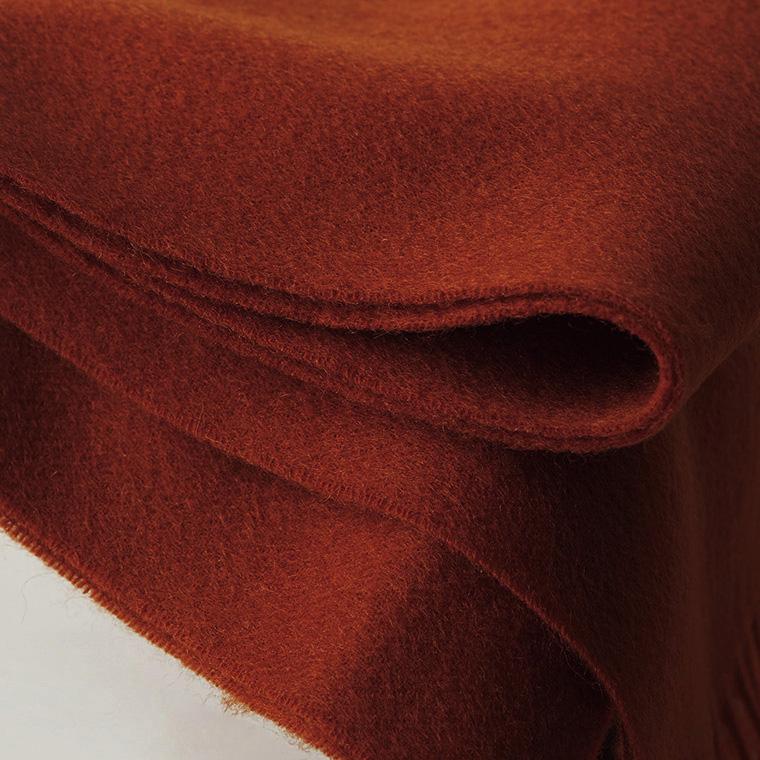 Шерстяной шарф COMFORT терракот