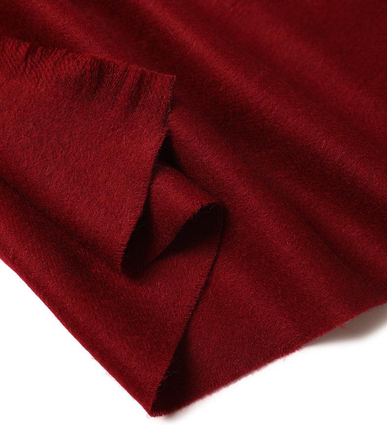 Шерстяной шарф COMFORT винный